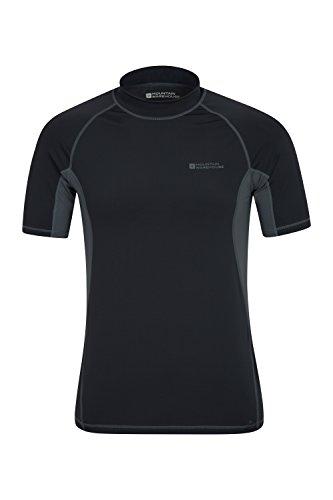 Mountain Warehouse UV-Badeshirt für Herren - Schwimmshirt mit LSF50+, schnelltrocknend, flache Nähte - Ideal zum Schwimmen und Tragen unter einem Schwimmanzug Kohle Small (Gefütterte Nylon-anzug)
