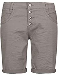 f9ced1add1b1 Urban Surface Damen Bermuda Shorts   Bequeme Kurze Stoffhose aus  Stretch-Twill - Loose Fit
