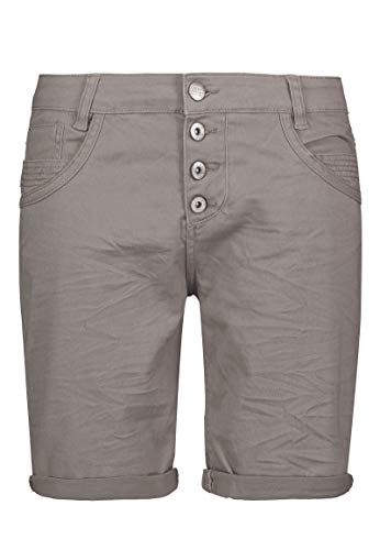 Urban Surface Damen Bermuda Shorts | Bequeme Kurze Stoffhose aus Stretch-Twill - Loose Fit Light-Grey XL -