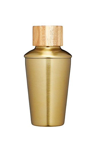 KitchenCraft Cocktail-Shaker Bar Craft 350ml mit Messingausführung in Gold, Edelstahl, Brass Finish, 250 ml -