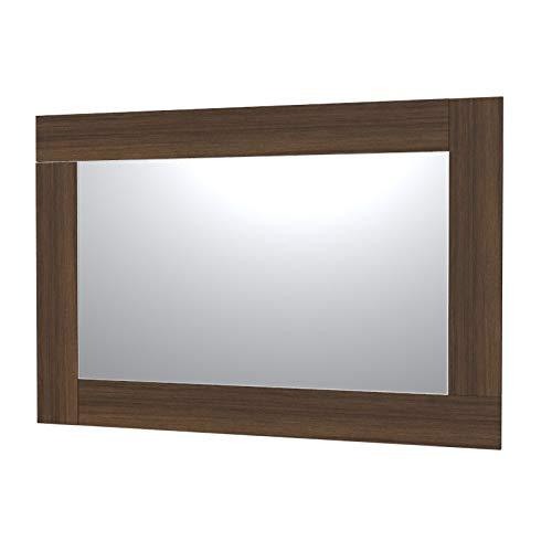 VE.CA-ITALY SPECCHI CON CORNICE IN LEGNO PER ARREDO BAGNO E CASA - 9 COLORAZIONI - DESIGN MINIMALE (Wenge, 150x100 cm - specchio 120x70 cm)