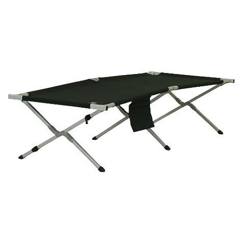 10T Cb190 Lit de camping Noir/Argent 192 x 72 x 40 cm