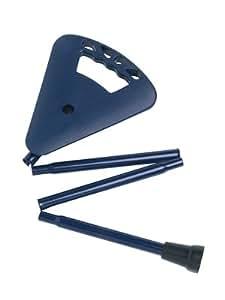 Flipstick Canne siège pliable, Couleur bleu, y compris durable et lavable, sac à bandoulière