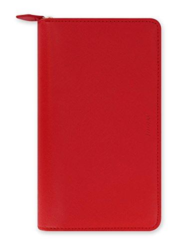 Detail Zip Wallet (Filofax 22534 Organizer Compact Saffiano Zip, poppy)