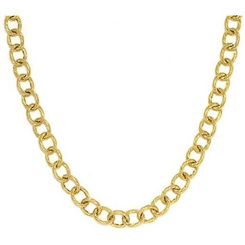 Vortice 7,8mm in Oro giallo 14ct ovale link bracelet–20centimetri