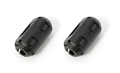 2 Stück 3.5mm Noise Suppressor EMI RFI Clip Choke Ferrite Core Cable Filter BlackMDAU Ferrit-snap