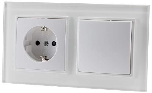 Enchufe de cristal UP + interruptor de cambio - todo en uno...