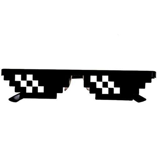 Sisit Traitez avec les lunettes de soleil unisex 8 bit Pixel Life IT / Thug Life Pour les adultes et les enfants (Modèle B)
