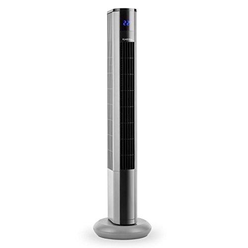 Klarstein Skyscraper 3G • Standventilator • Turmventilator • Säulenventilator • 3 Geschwindigkeiten • 50 Watt • leise • Timer • Fernbedienung • silber