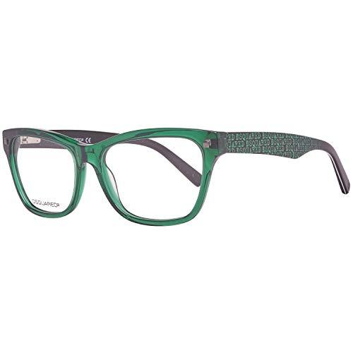 Dsquared2 Damen Brille DQ5138 096 53 Brillengestelle, Grün,