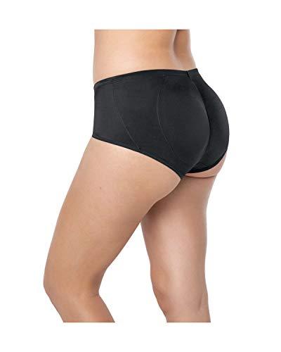 LEONISA Damen PANTY MIT PO-PUSH-UP, schwarz (black), Gr. Medium - Push-up-damen Panty