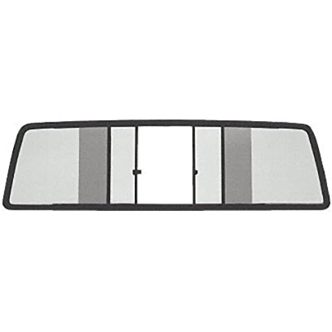 CRL Duo-Vent Four Panel Truck Slider with Light Gray Glass for 1986-1992 Jeep Comanche by CRL