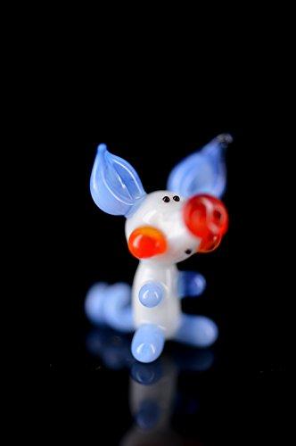 Cerdito de la suerte–Cerdito Color Blanco Azul Claro Azul Rojo