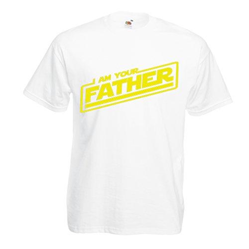 """T-shirt pour hommes """"Je suis ton père"""" Cadeaux de bâillon pour lui cadeaux pour papa,fête des pères (Medium Blanc Multicolore)"""