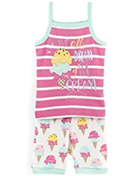 Hatley Organic Cotton Sleeveless Pyjama Sets, Pigiama Bambina