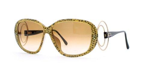 Christian Dior Damen Sonnenbrille Schwarz Black Yellow (Christian Black Eyeglasses Dior)