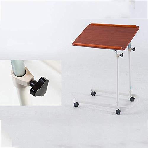 Czhuo Laptoptisch Mobiler Laptop Schreibtischwagen Projektorständer Überbettete Tischhöhe und verstellbarer Laptopständer für tragbare Computer. Drop-Leaf Tisch,Rote Kirsche - Kirsche Drop-leaf