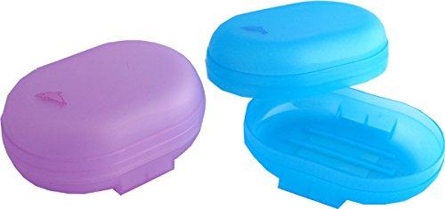 Dauphin de salle de bain de voyage de stockage de Porte-savon plastique Coque Boîte à nourriture Lot de 6