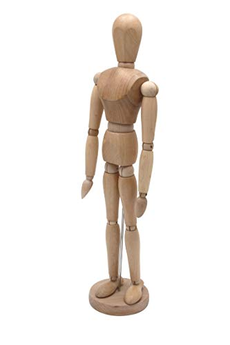 Meister Gliederpuppe 50cm hoch, Mannequin - Zeichenpuppe, aus feinem Samakholz - FSC, Ideal ALS Modell für Bewegungsstudien