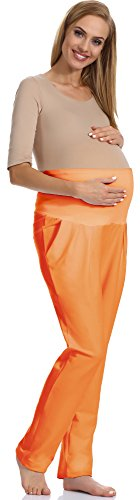 Be Mammy Maternité Pantalon Femme Enceinte Vêtements Grossesse GX207 (Orange, M)