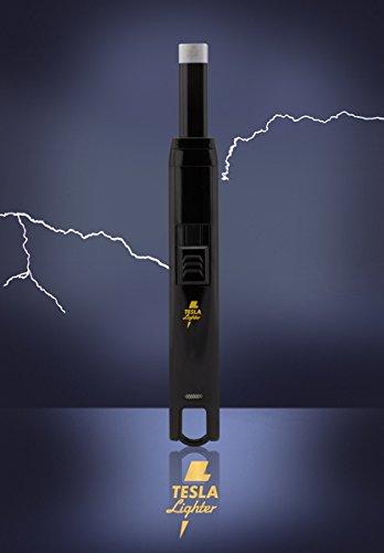 31NliaRAFYL - TESLA Lighter T07 | elektronisches USB Lichtbogen Stab Feuerzeug, Schwarz