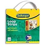 Sellotape 1445182 Bande Velcro 25 mm x 12 m