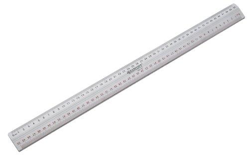 Westcott E-10113 00 Schneidelineal aus Metall, 50 cm, silber