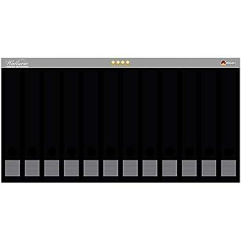 Grau einfarbig monochrom Wallario Ordnerrücken selbstklebend 8 schmale Ordner