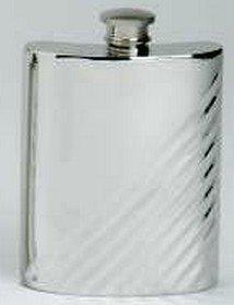 Preisvergleich Produktbild Flachmann, Diagonal Flöte aus feinem englischen Zinn-box, inkl. prideindetails 30166