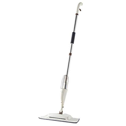 Tuoba 4-in-1 Spray Mop Besen Set Magic Mop Holzboden Flachwischer Reinigungswerkzeug Haushalt mit wiederverwendbaren Mikrofaserpads Lazy Mop