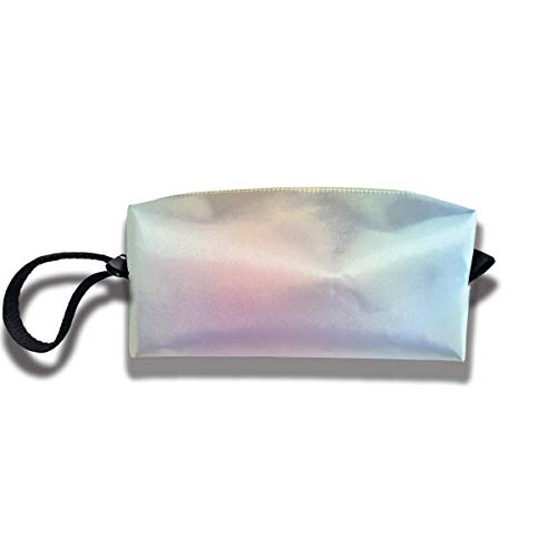 Travel Make-Up Bags Rainbow Ombre Pale Women Cosmetic Bag Multifuncition Durable Pouch Zipper Organizer Bag -