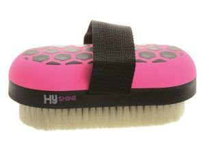 hyshine-glitter-body-brush-goat-hair-for-horses-ponies-oval-shaped-brush-great-for-creating-a-shine-