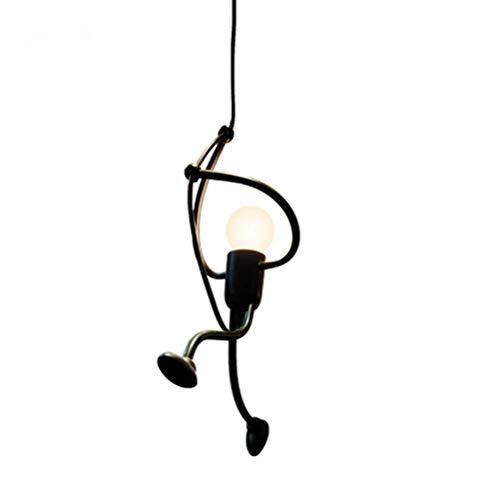 DAXGD Ferro Lampada a sospensione, lampadari creativi del lampadario di disegno del fumetto del ferro per per i bambini Camera da letto dei bambini, E27, lampadina non inclusa