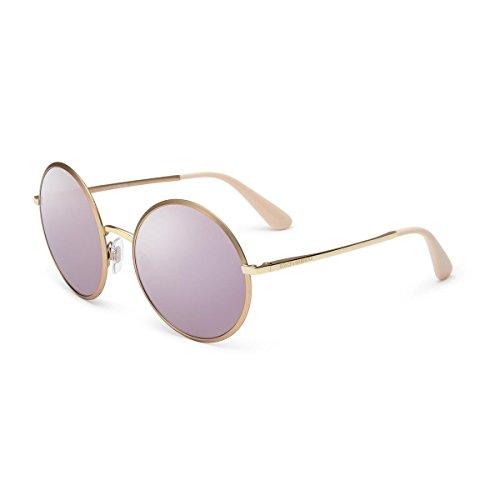 Dolce & Gabbana Damen 0DG2155 12945R 56 Sonnenbrille, Matte Pink Gold/Darkgreymirrorpink