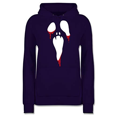 - Scream Halloween - L - Lila - JH001F - Damen Hoodie ()