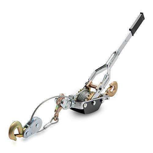 Neiko® 02256A come-a-long Power Kabel Lockvogel, Heavy Duty mit drei Haken und zwei Gears | 5-ton Ziehen Kapazität - Heavy Duty Gear Puller