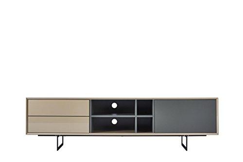 TV-Schrank TITRAN modernes TV-Lowboard in Taupe Beige hochglanz & anthrazit grau matt, mal kein weiß oder schwarz, 180 x 42 x 50 , Fernsehschrank inkl Lieferung und Montage! - 3