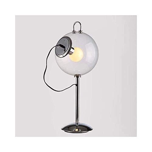 SNHWARE Moderne Tischlampe Einfache Mode Glas LED Auge Weiches Licht Tischlampe Wohnzimmer Hotelzimmer Restaurant Schlafzimmer Nachttischlampe [Energieklasse A +]