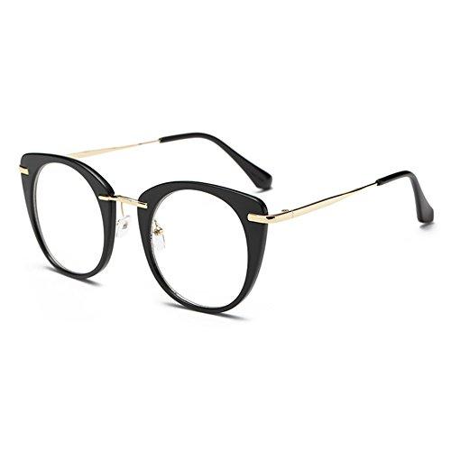 Hibote Männer Frauen Cat Eye Brille - Klare Linse Brillengestell - Mode Brillen Eyewear 122905