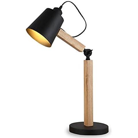 legno creativa minimalista lampada da comodino camera