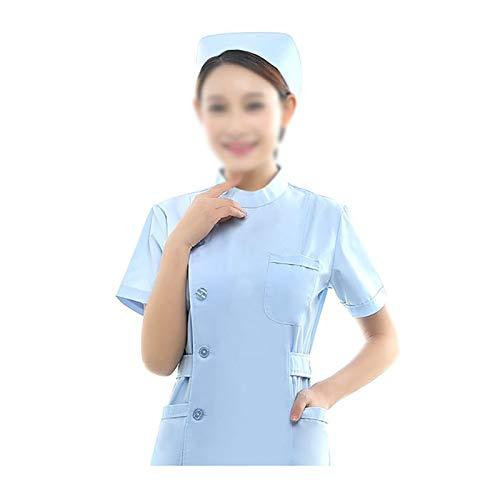 CX ECO Peeling-Set Damen Medizinische Uniform Schlank Peeling Krankenschwestern Anzug Gesundheitswesen Bequeme Arbeitskleidung Krankenschwestern Ärzte Therapeut Top und Hose,Blue,M