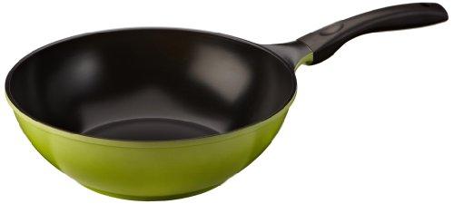 Culinario Wokpfanne mit umweltfreundlicher Ecolon Keramik-Beschichtung, Induktion, Ø 30 cm, grün