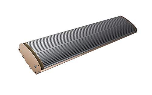 Chauffage Infrarouge Long 1800W Radiateur IR sans lumière avec boîtier en aluminium pour l'intérieur et les espaces extérieurs couverts