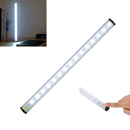 Bewegungs-melder-Lichtstrahl führte 15 led 4 modi touch schalter aluminium nachtlicht usb akku drahtlose wandleuchte zum lesen von schrank schrank kleiderschrank, warmweiß -