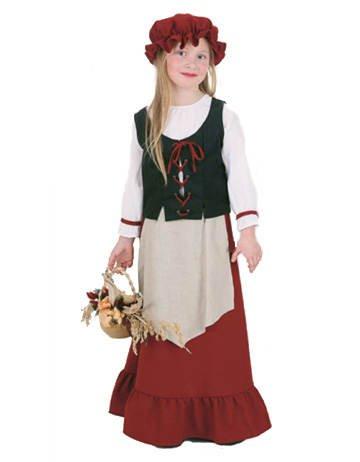 PARTY DISCOUNT Kinder-Kostüm Bauern-Mädchen, Gr. 140