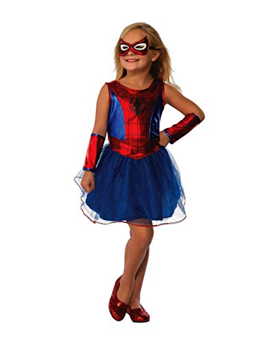 Spider Marvel Kostüm Girl - Horror-Shop Spider Girl Kostüm Tutu Marvel für kleine Superheldinnen L