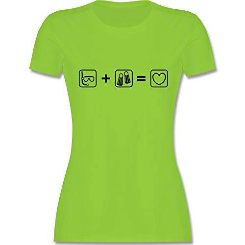 Sport - Taucherliebe - tailliertes Premium T-Shirt mit Rundhalsausschnitt  für Damen Hellgrün