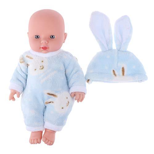 Baoblaze 12 Zoll Weichkörperpuppe Weichkörper Babypuppe Puppen mit Kleidung, Höhe: 30cm