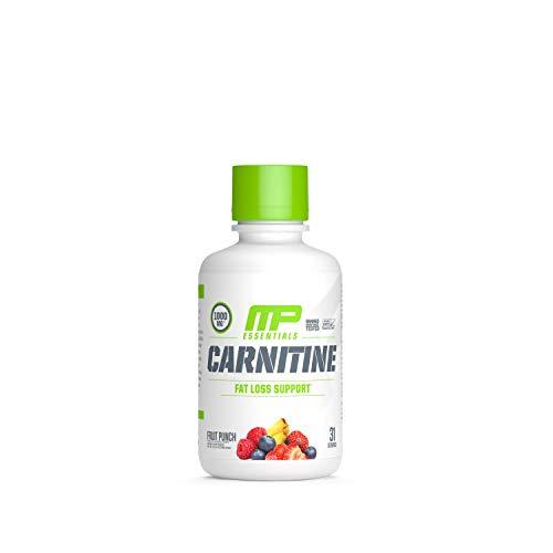 MusclePharm Fruit Punch Carnitine Core Liquid Diet Supplement, 31 Servings, 16 oz/458.8 ml