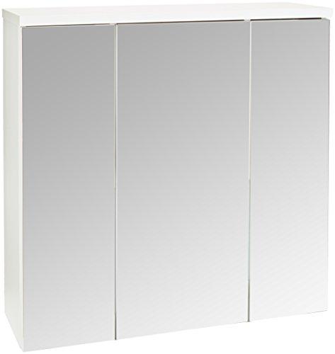 Trendteam ADO50101 - Armario para lavabo con espejo medidas 75x 73x 22cm, blanco